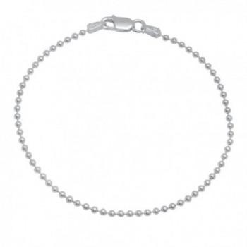 925 Sterling Silver Nickel-Free 1.8mm Pallini Style Bead Italian Chain + Bonus Polishing Cloth - CO12JXAUAW5