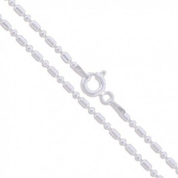 Sterling Silver Italian Ball Bead Chain 1.5mm 925 Italy New Dog Tag Necklace - CV11EYZRF9N