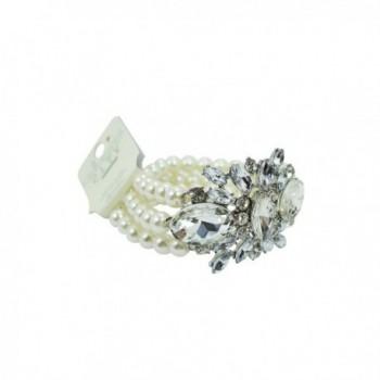 Wedding Imitation Multi strand Crystal Bracelet
