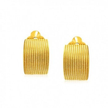 Bling Jewelry Plated Twisted Earrings