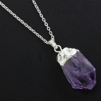 Natural Amethyst Necklaces Mothers Planted in Women's Pendants