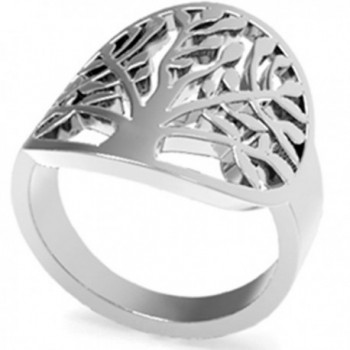 Stainless Steel Tree of Life Ring - CF12MAHGEBQ