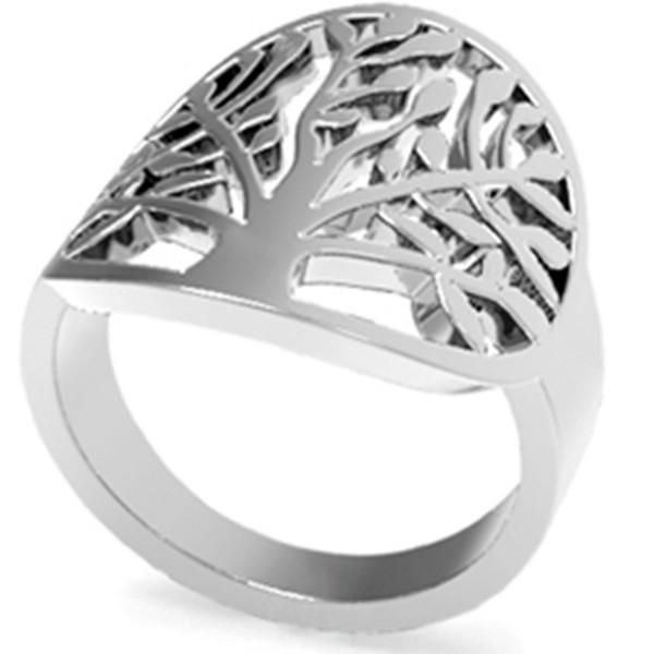 Stainless Steel Tree of Life Ring - CF12MAHGEBQ