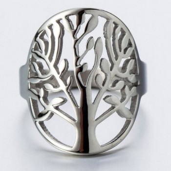 Stainless Steel Tree Life Ring