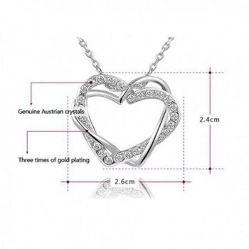 Bling Interlocking Crystal Platinum Necklace