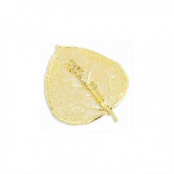Perfect Jewelry Gift 24k Gold Dipped Aspen Leaf Pin - CD11MZWT7YN