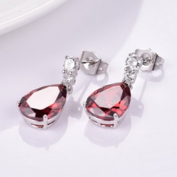 GULICX Silver Zircon Charming Earrings