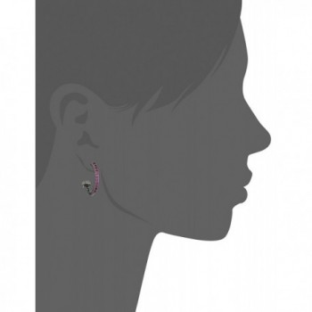 Nicole Miller Artelier Rhodium Earrings