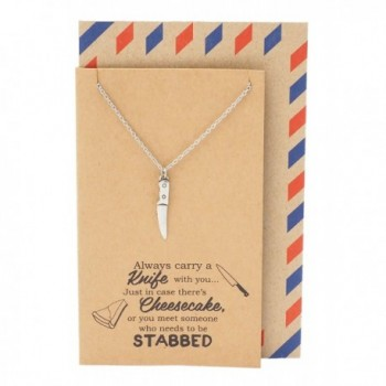 Quan Jewelry Necklace Pendant Greeting - C81824OE72C
