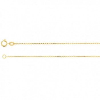 IceCarats Yellow Gold Filled 1.0mm Solid Diamond-Cut Cable Chain 16.00 Inch - CQ118CYDKMX
