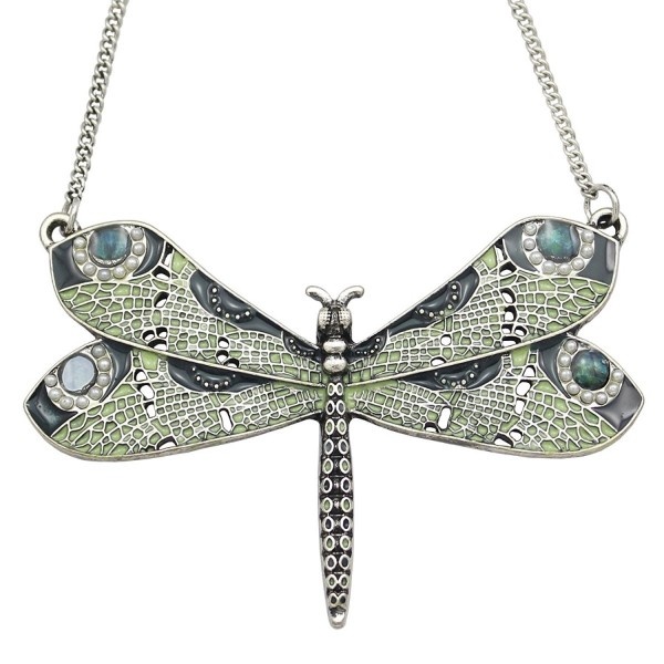 Vintage Fashion Victorian Dragonfly Simulated - Vintage Silver-tone - CT12O6YFYHA