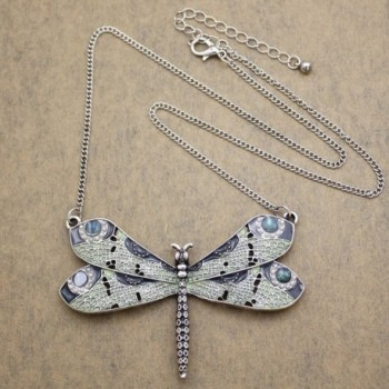 Vintage Fashion Victorian Dragonfly Simulated in Women's Pendants