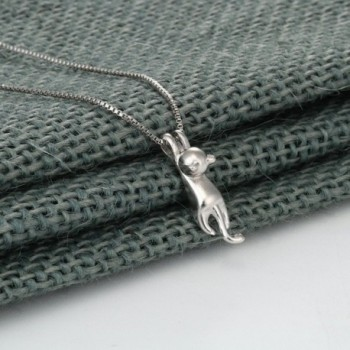 Sterling Silver Climbing Pendant Necklace