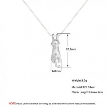 Sterling Silver Climbing Pendant Necklace in Women's Pendants