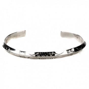 TSKIES Southwestern Native American Jewelry Bracelet Handmade Sterling Silver .925 - CW1876EUDLU