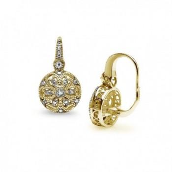 Flashed Sterling Filigree Leverback Earrings in Women's Drop & Dangle Earrings