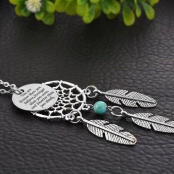 MJARTORIA Dangling Filigree Dreamcatcher Necklace in Women's Pendants