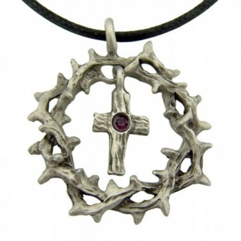 Religious Pendant Crystal Adjustable Necklace - C111E4NHQPD