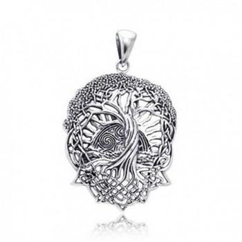 Rising Celtic Stelring Silver Pendant
