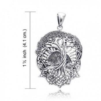 Rising Celtic Stelring Silver Pendant in Women's Lockets