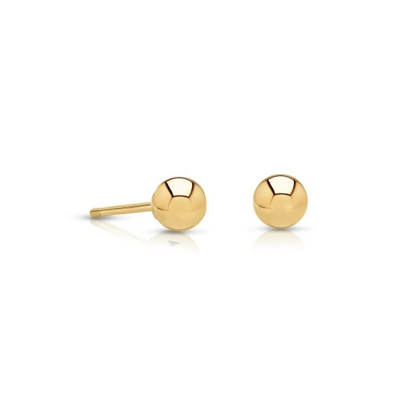 14k Gold Tiny Ball Stud Earrings Extra Small Size (2mm) - CM12D8W5RR9