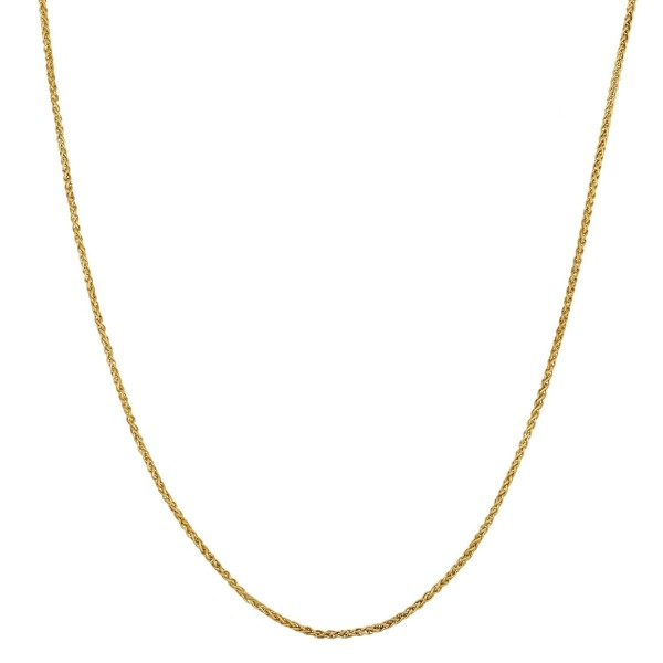 14k Yellow Gold Filled 1-mm Wheat Chain (18 Inch) - CD1184JGYPV