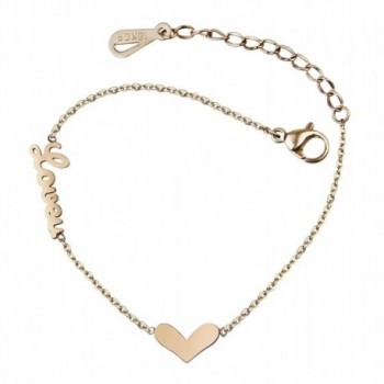 Bracelet Birthday Valentines Anniversary Christmas - Heart with Love- Anklet - CN1855CYQMG