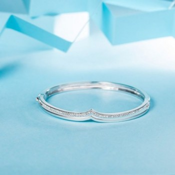 LadyColour Swarovski Crystals Rhodium Bracelets