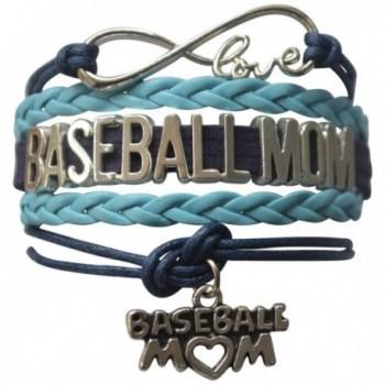 """Baseball Mom Bracelet- Baseball Jewelry For Moms - Perfect Gift for Baseball Moms - """" Blue """" - CI12FOTT69J"""