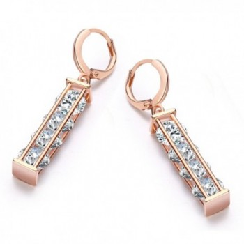 SBLING 18K Rose Gold Plated Cubic Zirconia Drop Earrings( 9.2 cttw ) - CV120I0Z9FT