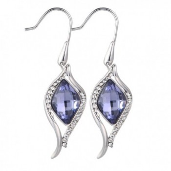 iSTONE Crystal Drop Dangle Earring Made With Swarovski Crystals Platinum Plated - Crystal Earring - C8187HXWZKT