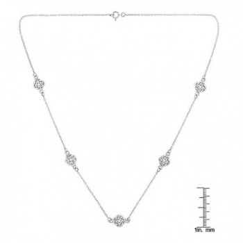 Sterling Silver Polished Station Necklace in Women's Chain Necklaces