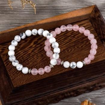POSHFEEL Distance Couples Bracelets Howlite in Women's Strand Bracelets