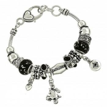 DianaL Boutique Zodiac Sign Capricorn Horoscope Charm Bracelet Silver Tone - CZ11STV1BMZ