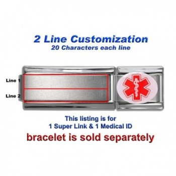 Laser Engraved Medical ID- Modular Enamel & Super Link - SELECT YOUR CONDITION OR MEDICINE - CY12NZ5YHC0