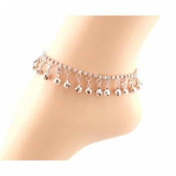 JY Jewelry Rose Gold full design Rhinestone chain with bells tassels Anklet - CH11VD74BBZ