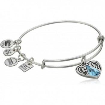 Alex and Ani Charity By Design Living Water II Bangle Bracelet - Rafaelian Silver - CN17YDRDC2L