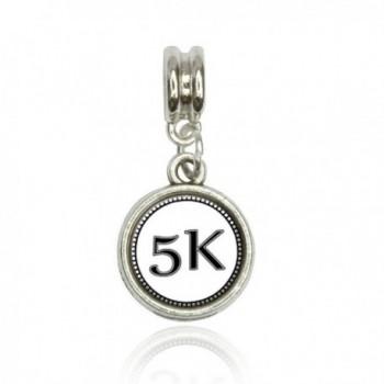 Runner 5K Euro European Italian Style Bracelet Bead Charm - CP11L4TGHMN