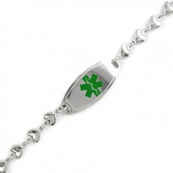 MyIDDr - Pre-Engraved & Customizable Warfarin ID- Medical Alert Bracelet- Heart Chain - CJ11CK9F7IV