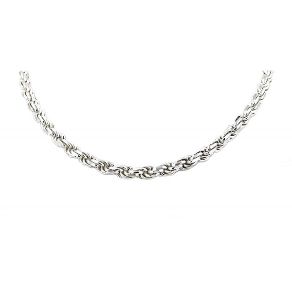 """Real Solid 925 Sterling Silver Diamond Cut Rope Chain 2.0mm 16"""" to 30"""" (30) - CW12O6NWKG3"""