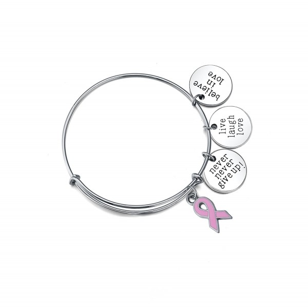 Wind /& Fire Believe Charm Silver Wire Bangle Stackable Bracelet USA Gift New