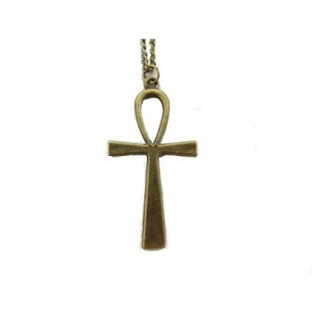 Ancient Bronze Ankh Necklace - Crux Necklace - Egyptian Necklace-simple Cross Necklace - Key of Life - CI12DD9M21B