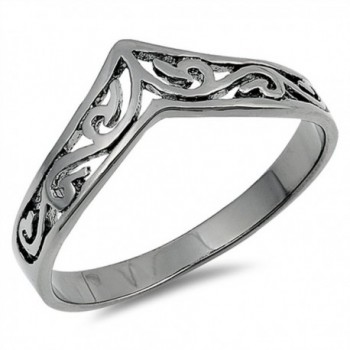 Sterling Silver Chevron Thumb Ring - C7183455N54