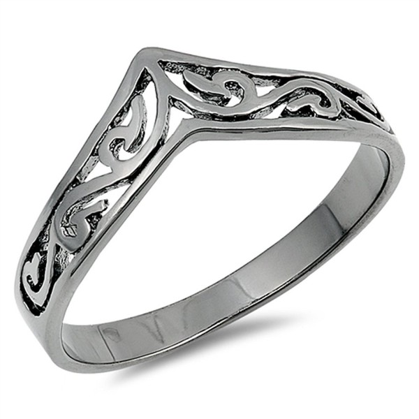 Sterling Silver Chevron Thumb Ring - C7183455N54
