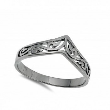 Filigree Celtic Black Tone Sterling Silver