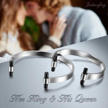 Jewelry Bracelets Stainless Couples Bracelet in Women's Cuff Bracelets