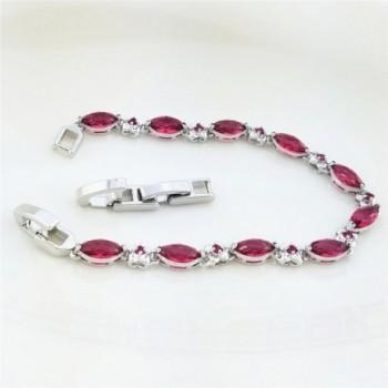 SELOVO Crystal Bracelet Silver Zircon in Women's Tennis Bracelets