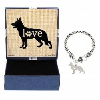 Dog Breed Love Dog Paw Silhouette Gift Charm Bracelet Silver-Tone Bracelet Jewelry Box - CH12NR3RP0P