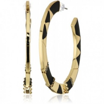 House of Harlow 1960 Nelli Hoop Earrings - Gold/Black - CS12N5O4DIC