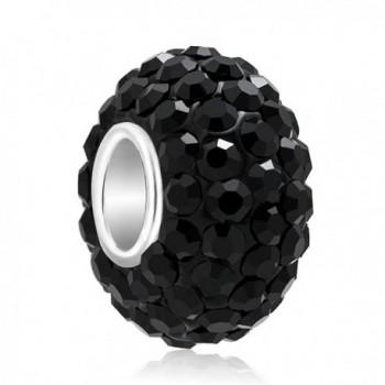 Third Time Charm Birthday Charms Swarovski Elements Beads For Bracelets - Black - CS17YE9DXX3
